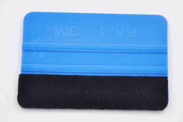 3m rakel mit filzkante zur anbringung von folien folierungen 100 x 75 mm blau siax. Black Bedroom Furniture Sets. Home Design Ideas